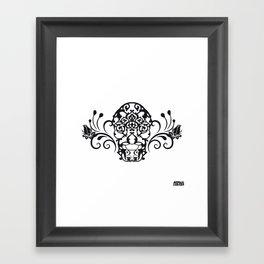 SKULL FLOWER 04 Framed Art Print