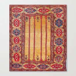 Ladik Central Anatolian Column Rug Canvas Print