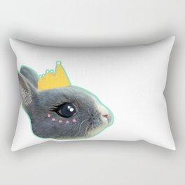 Baby Bunny Princess Pink and Blue Rectangular Pillow