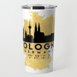COLOGNE GERMANY SILHOUETTE SKYLINE MAP ART Travel Mug