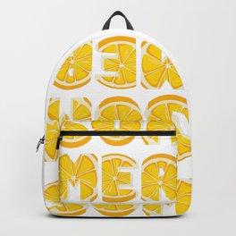Lemon Summer Backpack