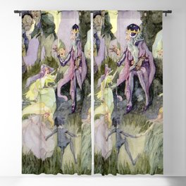 """""""Presents of the Little Folk"""" by Anne Anderson Blackout Curtain"""