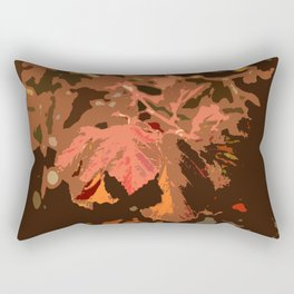 Abstract Fall Leaves Rectangular Pillow