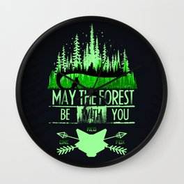 May The Forest Wall Clock