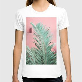 Palm Leaf with Pink Wall | Botanical Fine Art | Tropical | Travel Photography | T-shirt