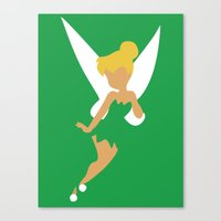 tinker bell Canvas Prints featuring Tinker Bell by Adrian Mentus