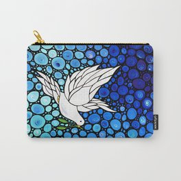 Peaceful Journey - Vibrant white dove by Labor Of Love artist Sharon Cummings. Carry-All Pouch