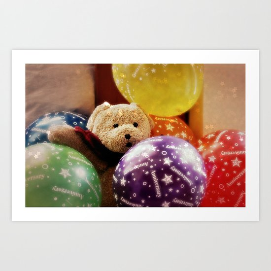 In Party Mood! Art Print