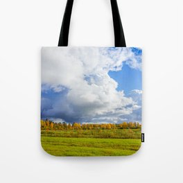 Rainclouds Over Field Tote Bag
