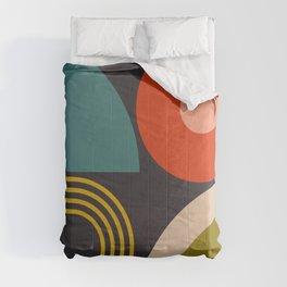 mid century bauhaus geometry large  1 Comforters