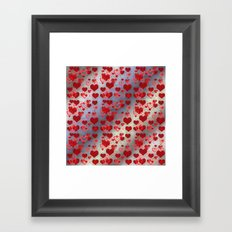 Little Hearts Framed Art Print