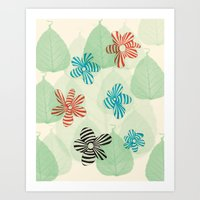 stripes - bee or flower? Art Print