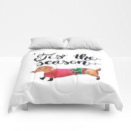 'Tis the Season for Christmas and Dog Lovers Comforters