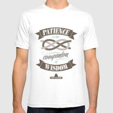 Patience Mens Fitted Tee White MEDIUM
