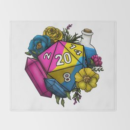 Pride Pansexual D20 Tabletop RPG Gaming Dice Throw Blanket