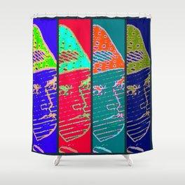 Rainbow Fighter Shower Curtain