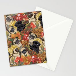 Because Pugs Autumn Stationery Cards