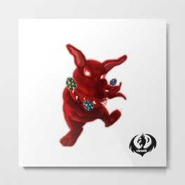 Easter Evil Bunny Metal Print