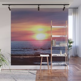 Double Sun Sunset Wall Mural