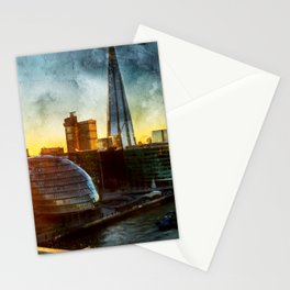 london-sunset-river-thames Stationery Cards