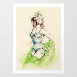 Burlesque 01 Art Print