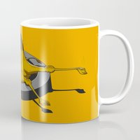 camel Mugs featuring Camel by 2mzdesign