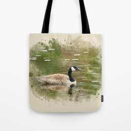 Watercolor Goose Art Tote Bag