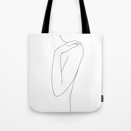 Woman's body line drawing illustration - Dalia Tote Bag