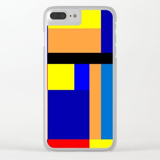 Mondrian #2 Clear iPhone Case