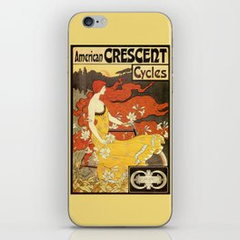 Vintage American art nouveau Bicycles ad iPhone Skin