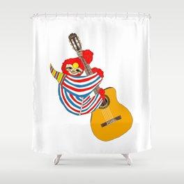 Heroes Sloth Vintage Guitar Shower Curtain