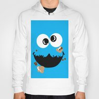 cookie monster Hoodies featuring Cookie Monster  by Lyre Aloise