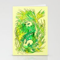 pisces Stationery Cards featuring pisces by Steven Toang