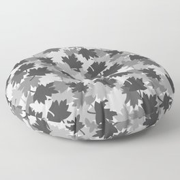 Camo Gray Leaves Floor Pillow