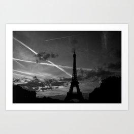 Parisian Sunset Art Print