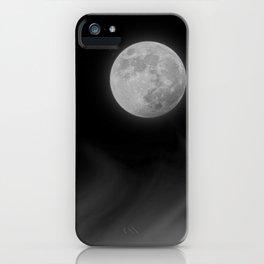 Moon Sky // La Luna in the Dark Night Clouds Stars Full Glowing Dream Like Fantasy iPhone Case