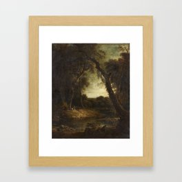 Sir George Beaumont (1753-1827) A Landscape with Figures Dated 1812 Framed Art Print