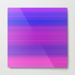 Pink & Blue Gradient Stripes Metal Print