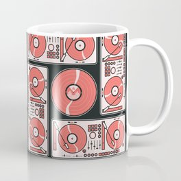 Record Player Square Coffee Mug