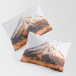 Mount Taranaki, New Zealand Travel Artwork Pillow Sham