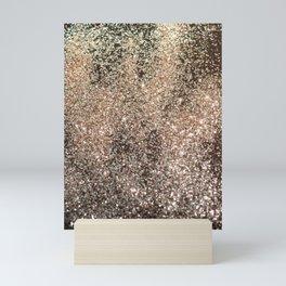 Sparkling GOLD BLACK Lady Glitter #1 #decor #art #society6 Mini Art Print