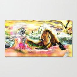 Land-scope [Bright, full Colour mix] Canvas Print