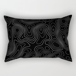 Topographic Map 01C Rectangular Pillow