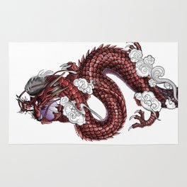 Japanese Dragon 竜 Rug