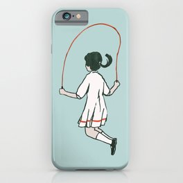 Rope skipping iPhone Case