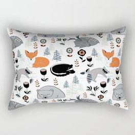 Woodland Nap Time Rectangular Pillow