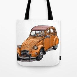 Orange 2CV Tote Bag