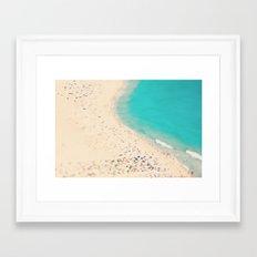 beach love III - Nazare Framed Art Print