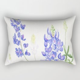 Bluebonnet Watercolor Rectangular Pillow