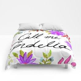 Call Me Cordelia - Purple Flowers Comforters